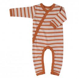 Pyjama coton bio - Rayures bretonnes - sienna