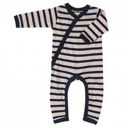 Pyjama coton bio - Rayures bretonnes - marin