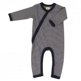 Pyjama coton bio - Rayures fines - marin