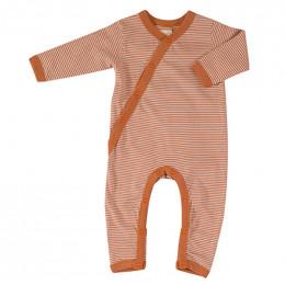 Pyjama coton bio - Rayures fines - sienna
