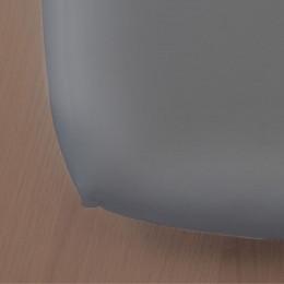 Drap housse Green Clim - 90 x 200 cm - Gris foncé