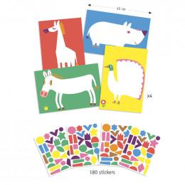 Stickers pour les petits - Les grands animaux