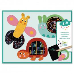 Cartes à gratter pour les petits - Les animaux rigolos
