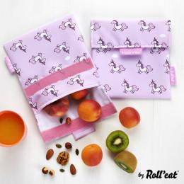 Pochette lavable et réutilisable Snack'n'Go - Kid Licornes
