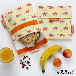 Pochette lavable et réutilisable Snack'n'Go - Kid Dinos