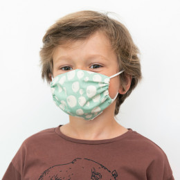 Masque buccal pour enfants - Balloon turquoise