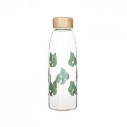 Bouteille imprimée en verre - 550 ml - vert