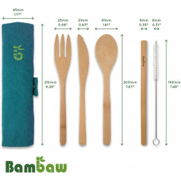 Set de couverts en bambou - Lagon