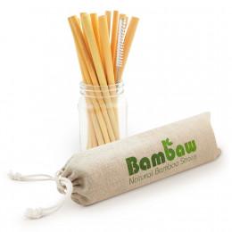 Pailles en bambou 14 cm - Lot de 12