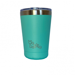 Gobelet Isotherme en Inox avec couvercle - Turquoise  - 350 ml