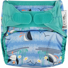Couche lavable Pop-In V2 taille unique - Velcros - Puffin