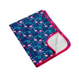 Tapis couverture de change - Flamants roses