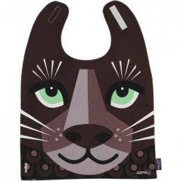 Grande serviette - bavoir - coton organique - Jaguar