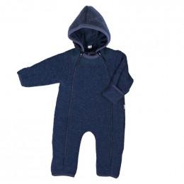 Combinaison intégrale en polaire de laine pour bébé - Bleu foncé