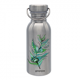 Gourde Sporty Inox - Gaspajoe Plume Verte - 500 ml