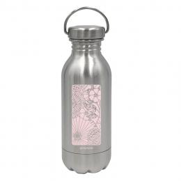 Gourde Daily MINI Inox - imprimée Champêtre Rose - 330 ml