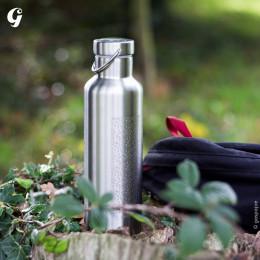 Gourde Isotherme Groovy Inox - gravure Feuillages - 750 ml
