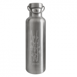 Gourde Isotherme Groovy Inox - gravure Bambou - 750 ml