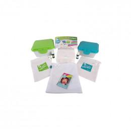 Kit TE1 lingettes lavables - coton BIO Premium Zéro Twist Organic- Blanc - Lavande