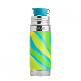 Gourde bouteille en inox - modèle sport - 260 ml - Aqua swirl