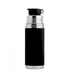 Gourde bouteille en inox - modèle sport - 260 ml - Noir