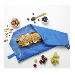 Pochette sandwich lavable et réutilisable Boc'n'Roll - Square dark blue