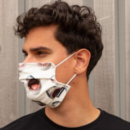 Masque buccal en coton bio - Shark!!