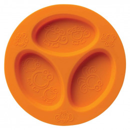 Assiette à compartiments en silicone - Orange