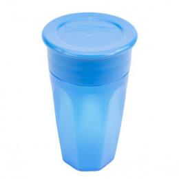 Gobelet verre 360° avec capuchon - 300 ml - Bleu