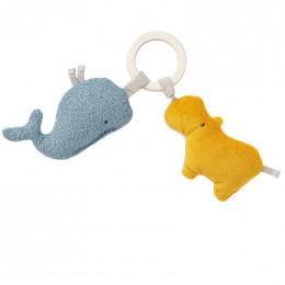 Anneau d'activités en coton Bio - Hippo et baleine