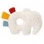Hochet souple à grelot en coton bio - Eléphant