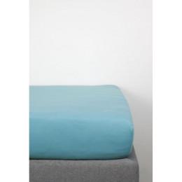 Drap Housse en Coton Bio pour lit bébé - 60x120 cm - Bleu