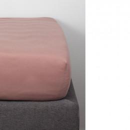 Drap Housse en Coton Bio pour lit bébé - 60x120 cm - Rose poudré