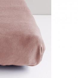 Drap Housse en Coton Bio pour berceau/landau bébé - 40x80 cm - Rose poudré