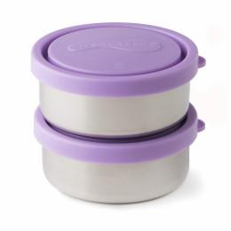Duo de petites boîtes rondes avec couvercles - Lavender - 150 ml