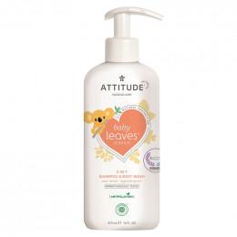 Shampooing gel nettoyant 2 en 1 - nectar de poire - baby leaves - 473 ml