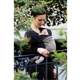Echarpe porte-bébé - anthracite et olive