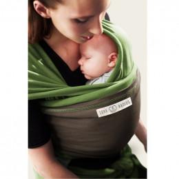 Echarpe porte bébé - Pistache et Marron