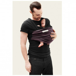 Echarpe porte-bébé - Noir et prune
