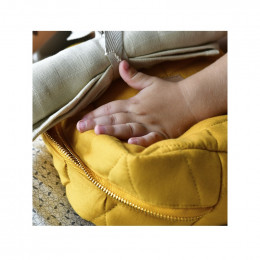 Trousse de toilette large - Golden Mustard