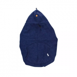 Couverture de portage Igloo en laine foulée - Bleu foncé