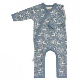 Pyjama kimono en coton BIO - Cerf bleu