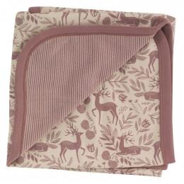 Couverture en coton BIO - Cerf rose