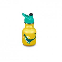 Gourde bouteille en inox  -  355 ml - Bouchon sport - Dragon