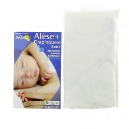 Alèse + Drap Housse 2-en-1 (Kadolis) - Pour Lit Bébé 40x80 cm - plusieurs coloris disponibles
