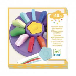 12 crayons fleurs pour les petits