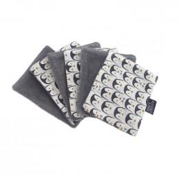 Lingette bébé en coton et bambou - 12 x 15 cm - Lot de 6 - Pingouins