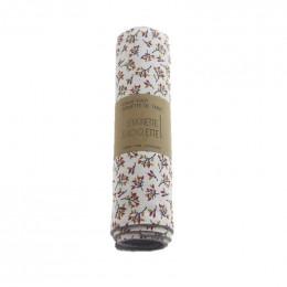 Essuie-tout et serviette de table - lot de 6 - Fleurs d'automne