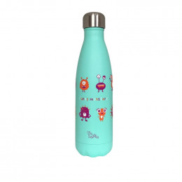 Gourde bouteille en inox - Funny monsters - 500 ml