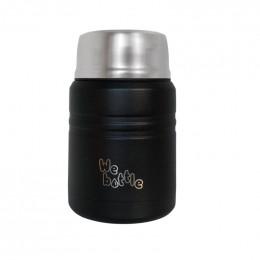 Lunchbox Isotherme en Inox avec cuillère - Black - 500 ml
